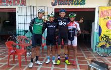 De izquierda a derecha: Nelson Soto, Jhon Navarro, Brewer Pérez y Ómar Ramírez, en Barranquilla.