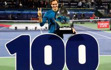Roger Federer alcanza en Dubái 100 títulos en su carrera