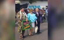 Mujer que se disfrazó como Primera Dama en el Carnaval de la 44 recibe amenazas por las redes