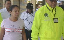 La exalcaldesa Olga Carta a su llegada a la audiencia de ayer, en Sincelejo, a donde fue enviado el caso.