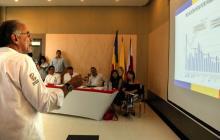 El gobernador Eduardo Verano explica los proyectos de la Región Caribe que deben ser priorizados en el Plan de Desarrollo.