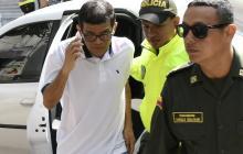 El exalcalde de Puerto Colombia Carlos Altahona a su llegada a la Uri.