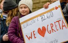 La joven sueca de 16 años Greta Thunberg.