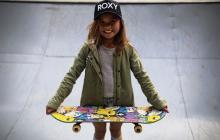 Sky Brown, de 1,43 de estatura, es una gigante en el skateboard, que será deporte olímpico en Tokio-2020.