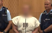 Brenton Tarrant, señalado de la masacre de 49 personas en Nueva Zelanda, en el tribunal este sábado.