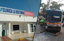 Dos pacientes en UCI tras choque de dos buses en Los Pinos