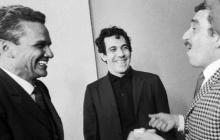 Germán Vargas Cantillo junto a Álvaro Cepeda y Gabriel García Márquez en 1967.