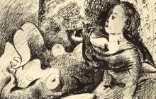 La obra 'Joueuse de flûte et nu couché' (1932).