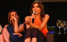 Lorena Meritano en el evento desarrollado en el teatro José Consuegra Higgins el pasado miércoles.