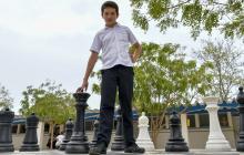 Francisco, de 14 años, cursa en el Colegio San Francisco octavo grado y es un alumno ejemplar.