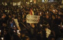 Marcha por la paz en Colombia.