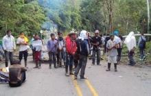 Indígenas de Putumayo anuncian que bloquearán vías principales