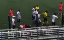 En video   Exfutbolista José Otero agrede al técnico del Unión Magdalena sub 17