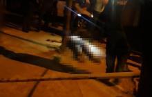 La víctima quedó tendida en plena vía pública.