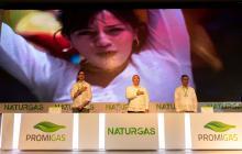 Rodolfo Anaya, Iván Duque y Orlando Cabrales en el Congreso de Naturgas en Cartagena.