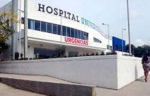 El niño llegó al hospital Universidad del Norte sin signos vitales.