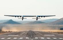 Así fue el primer vuelo en EEUU del avión más grande del mundo