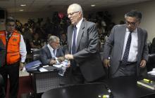 Pedro Pablo Kuczynski, en la audiencia de apelación.