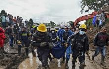 Asciende a 30 la cifra de muertos por alud en el Cauca