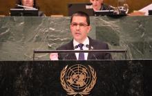 Jorge Arreaza en su intervención de este miércoles.