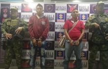 Los presuntos miembros del ELN capturados.