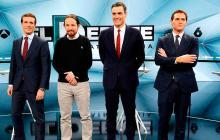 Los líderes políticos españoles chocan  en un intenso último debate electoral