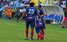 Márquez celebra un gol.