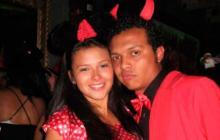 Laura Moreno y Luis Andrés Colmenares la noche del 31 de octubre del 2010.