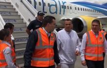 El general (r) Mauricio Santoyo a su llegada al país.