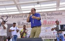 Octavio Daza Gámez, finalista de la canción con el tema Sentimiento profundo.