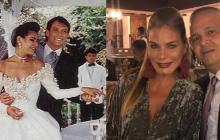 María Mónica Urbina con su primer esposo John Fabián Vélez, asesinado en el 2010. En la segunda foto con José Guillermo Hernández, muerto en atraco en Brasil.