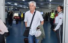 Julio Avelino Comesaña cuando retornó a Barranquilla el miércoles 24 de abril.
