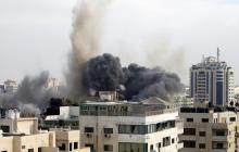 """Escalada en Gaza con más cohetes palestinos y respuesta """"masiva"""" de Israel"""