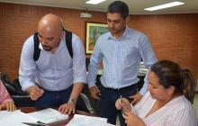 Firman acta de inicio de la vía Las Tablitas-San Marcos, Sucre