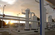 Infraestructura de una subestación de gas natural en la Costa Caribe.