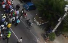 En video | Tiroteo en el norte de Barranquilla: Policía frustra robo y hiere al presunto ladrón