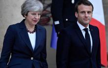 """Macron pide """"aclarar"""" el Brexit tras el anuncio de dimisión de May"""