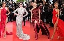 La brasileña Alessandra Ambrosio lució esta creación de Julian Macdonald, mientras que la actriz Amber Heard y la modelo Coco Rocha coincidieron en vestirse de Elie Saab. Una de las que más miradas acaparó, por su diseño rojo, del italiano Roberto Cavalli, fue la modelo estadounidense Bella Hadid, hija de la personalidad de televisión Yolanda Foster.
