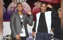 Jeovanis 'Meke' Barraza y Gabriel Maestre, durante la presentación del combate.