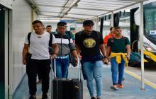 Muriel y Díaz llegaron a Barranquilla.