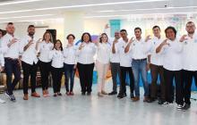 La secretaria de Cultura María Teresa Fernández junto al equipo de profesionales que integran Cultulab.