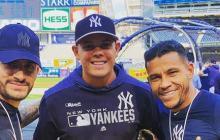 Celis y Morelos visitaron a Urshela en Nueva York