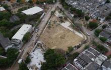 Espacio donde construyen parque el  Mundialito.