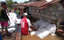 Las aguas del río Cauca ya ingresaron a Guaranda