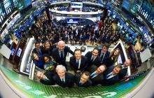 Ejecutivos de Corteva en la Bolsa de Nueva York.