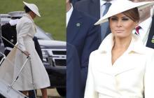 Los impactantes 'looks' de Melania Trump en Reino Unido