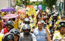 Protesta frente a Clínica La Asunción.