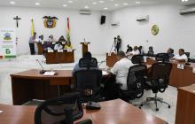 Aspecto de la sesión ordinaria del Concejo Distrital.