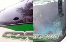 Caravana de hinchas junioristas fue apedreada saliendo de Bogotá
