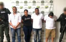 Cuatro de los cinco capturrados en Córdoba.